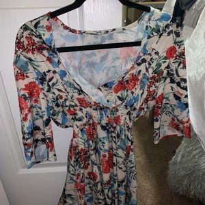 SHEIN flowy floral dress! Worn one time! Size L.